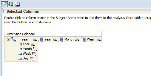Patlaf » OBIEE 11G: Display hierarchy and columns from the