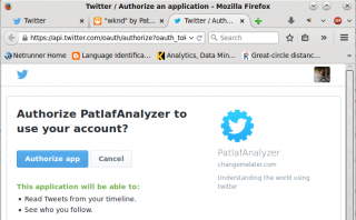 Twitter Streaming API Authorize