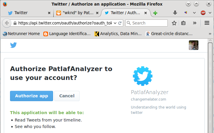 Patlaf » Query Twitter Streaming API with Pentaho Data